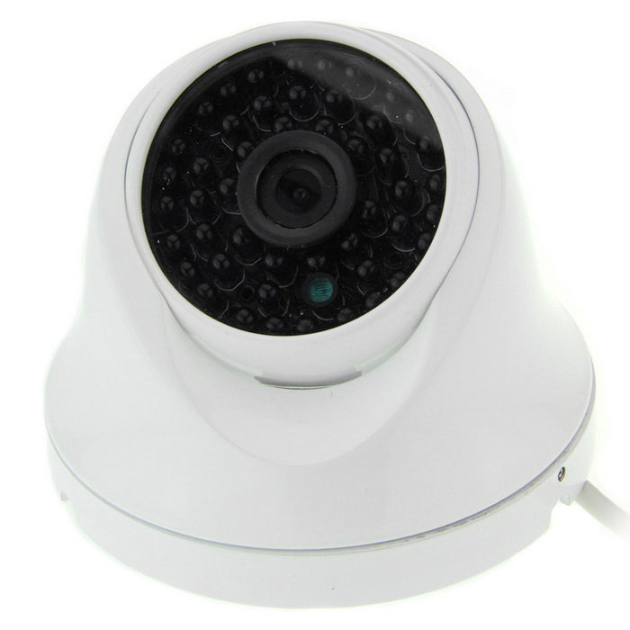 "3.6mm Lens 1/3"" CMOS 900TVL Surveillance Camera w/ 48-IR LED - White"