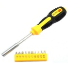 Jtron 10-in-1 Multi-use Screwdriver Tool Set - Yellow