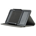 "universell Litchi mønster PU sak m / stativ for 7"" tablet - svart"