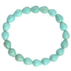 Water-drops Style Turkey Stone Beads Bracelet - Turquoise