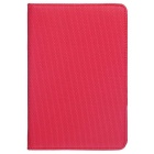 Protective Lychee Pattern 360 Degree Rotation PU Leather Case Cover Stand for IPAD MINI 1/2/3 - Red