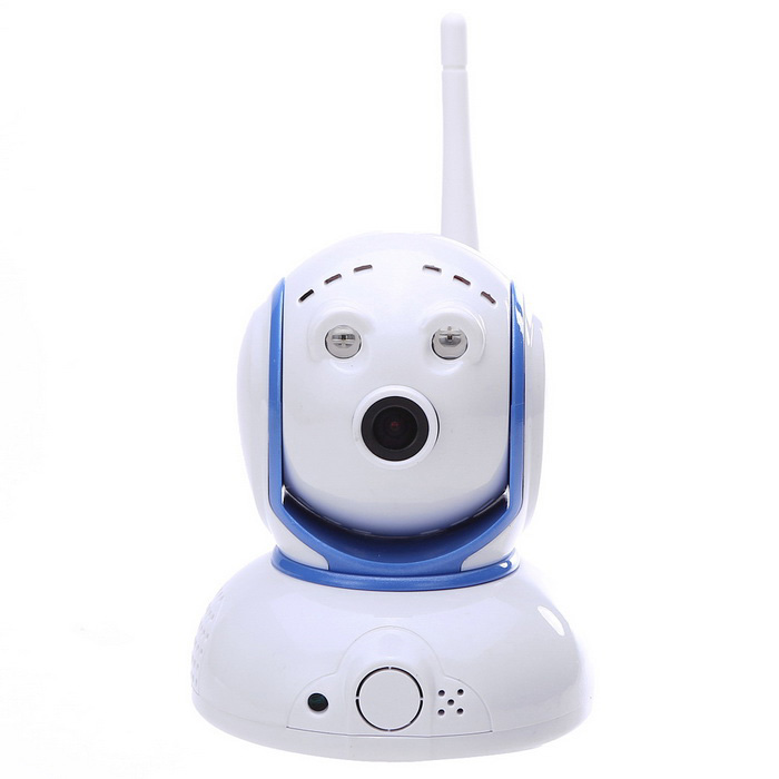 suneyes 1.0MP 720P HD P2P IP-camera w / wi-fi - wit + blauw (eu stekker)