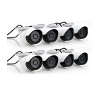 Cotier 8-CH NVR Surveillance System + IP Cameras Kit - White + Black