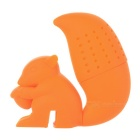 Cute Squirrel Style Silicone Tea Leaves Filter / Strainer - Orange