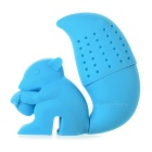 Cute Squirrel Style Silicone Tea Leaves Filter / Strainer - Blue