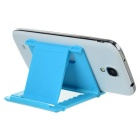 Universal ABS Angle-Adjustable Folding Stand w/ Anti-Slip Mat - Blue