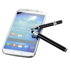 Universal Aluminum Alloy Touch Stylus Pen w/ Suction Cup - Black