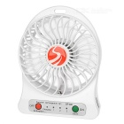 USB 2.0 Mini 4-Blade 3-Mode Fan - White (1 x 18650)