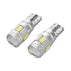 T10 1.2W 6-SMD 5730 LED Decode Cool White Lamp 7000K 60lm (2 PCS / 12V)