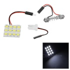 T10 / Festoon 1W LED Car Reading Lamp Cold White 22882K 90lm (12V)