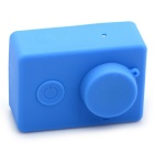 Soft Silicone Shell Case Cover + Lens Cap Set for Xiaomi Xiaoyi - Blue