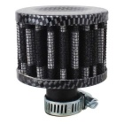 MZ 50mm Universal Carbon Mushroom Head Style Motorcycle Air Filter - Black