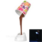 Creative Coffee Cup Style 3W Rechargeable USB LED Desk Table Lamp White Light 6000K 120lm