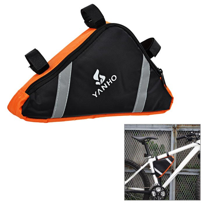 Yanho YA085 Cycling Oxford Cloth Bike Top Tube Triangle Bag - OrangeBike Bags<br>Form ColorOrangeModelYA085Quantity1 DX.PCM.Model.AttributeModel.UnitMaterialOxford clothTypeOthers,Top tube bagCapacity4 DX.PCM.Model.AttributeModel.UnitWaterproofYesGenderUnisexBest UseCyclingCertificationCEPacking List1 x Bike bag<br>