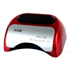 48W LED UV Lamp Light Time Set Nail Polish Tool - Red (110-220V)