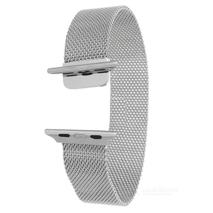 Mini Smile Watch Band w/ Magnetic Clasp for APPLE WATCH 42mm - SilverWearable Device Accessories<br>Form ColorSilverQuantity1 DX.PCM.Model.AttributeModel.UnitMaterialStainless steelPacking List1 x Band<br>