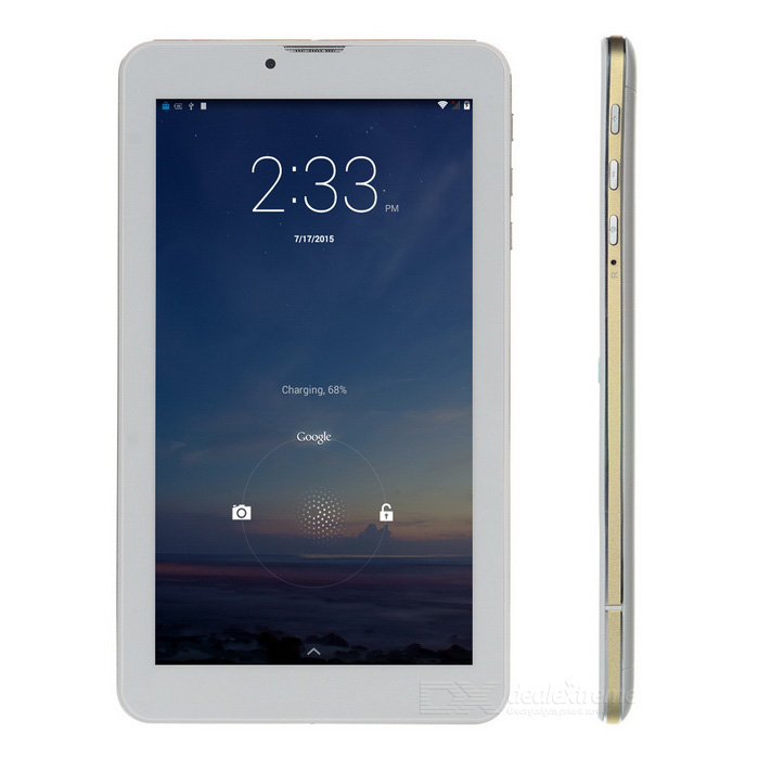 "draadloos opladen 7"" android 3G-tablet-pc w / 1GB RAM, 2GB ROM - wit"