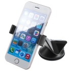 360' Rotating Free Sucked Type Phone Stand Holder for Car - Black