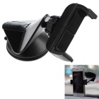 360' Rotating Free Sucked Type Mobile Phone Stand Holder for Car - Black