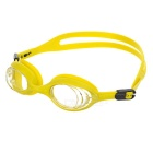 Decathlon Fashionable Waterproof Fog-proof Silicone Frame Polycarbonate Swimming Goggles - Yellow
