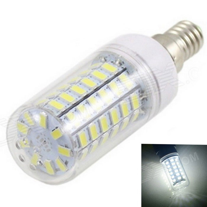 E14 12W LED Corn Bulb Lamp Cold White Light 1800lm 69-SMD 5730