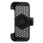 Hollow Pattern Protective TPU + PC Case w/ 360 Degree Rotation Holder for IPHONE 6 - Black