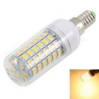 E14 12W Warm White LED Corn Light Bulb 1800lm 3500K 69-SMD 5730 (AC 220~240V)