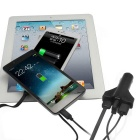 GeekRover 3-USB Quick Charge Car Cigarette Lighter Charger - Black