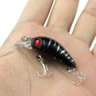 Simulation Fish Plastic Fishing Lure Bait Hook - Black + Silver + Red