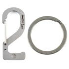 "Fashionable ""2"" Lucky Number Style Stainless Steel Keychain - Silver"