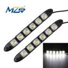 MZ 3W Flexible Snake LED Car Daytime Running Lights / Fog Lamps White 160lm 6-SMD 5050 (12V / 2 PCS)