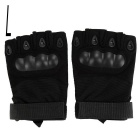 Outdoor Sports Cycling Hunting Military Tactical Anti-Slip Half-Finger Gloves - Black (L / Pair)