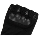 Cycling Hunting Tactical Anti-Slip Half-Finger Gloves - Black (L)