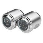 Motorcycle Clock + Thermometer Set for Harley & More - Black + Silver