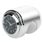 Universal Motorcycle Handlebar Mounted Clock for Harley & More - Silver + Black