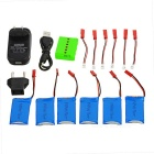 730mAh X6A-B03 Battery Accessories Kit - Red + Green + Multicolor