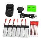 680mAh X6A-B02 Battery Accesories Kit - Red + Green + Multicolor
