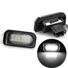 Qook 2 x White 18-LED 3528 SMD License Plate Lights Lamp Bulb for BENZ W203 4D Sedan