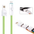 USB Charging & Data Sync Cable w/ LED Indicator & OTG Function for Android Phones - Green (100cm)