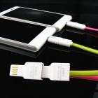 USB Data Charging Cable w/ LED Indicator & OTG for Android - Green(1m)