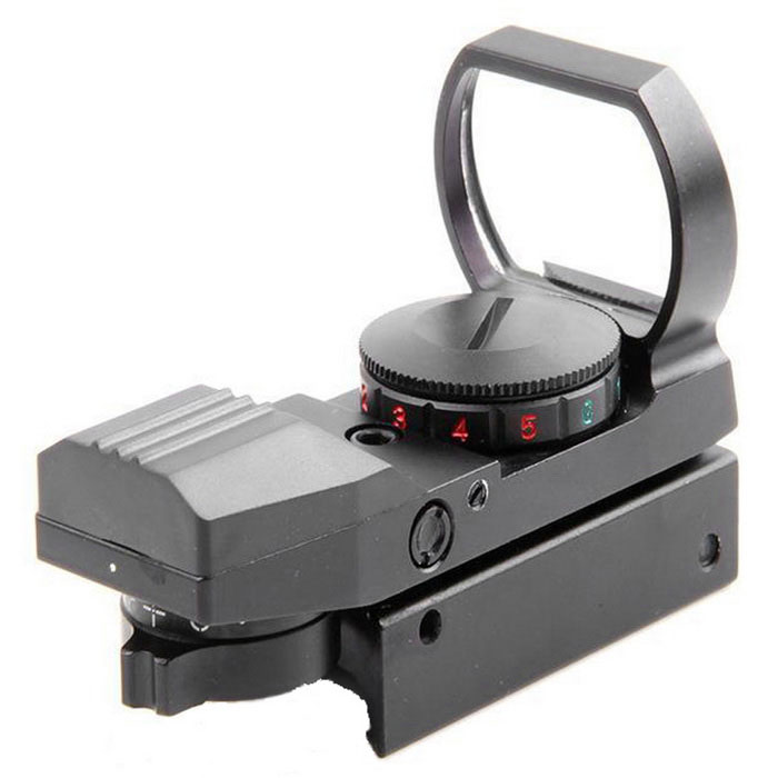 21mm Hunting Holographic Red / Green Laser Sight Scope - BlackGun Scopes &amp; Sights<br>Form ColorBlackMaterialAluminum alloyQuantity1 DX.PCM.Model.AttributeModel.UnitGun TypeUniversal for rail width: 21mmMount TypeWeaverMagnification1Objective Diameter33mmField of View15.8@100mLaser WavelengthRed laser 630nm, green laser 556nmLaser ColorRed,GreenPacking List1 x Sight scope2 x Wrenches1 x Cleaning cloth1 x English manual1 x CR2032 battery (included)<br>
