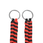 Bracelet Style 7-Strand Paracord Keychain w/ Carabiner - Red (2PCS)