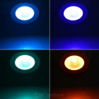 GU10 3W LED Spotlight RGB Light 40lm w/ Remote - White + Silver (3PCS)
