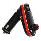 "1.1"" Car MP3 Player / FM Transmitter w/ Dual USB / TF / 3.5mm - Red"