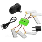 450mAh X6A-A07 Battery Accessories Kit - Black + Green + Multicolored