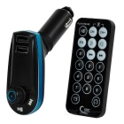 "1.1"" Car MP3 Player FM Transmitter w/ 2-USB Charger & TF Slot - Black"
