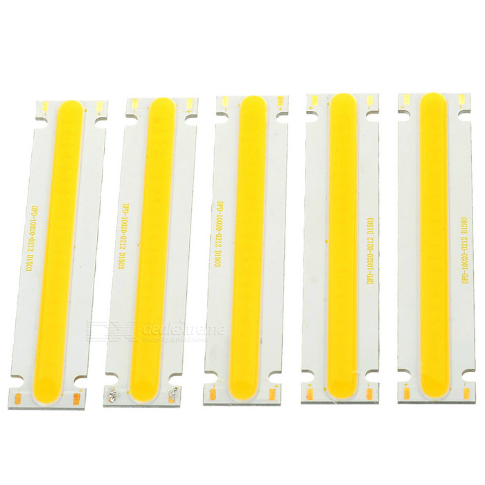 5W COB Module lumière LED chaud blanc 400lm - blanc + orange (5PCS)