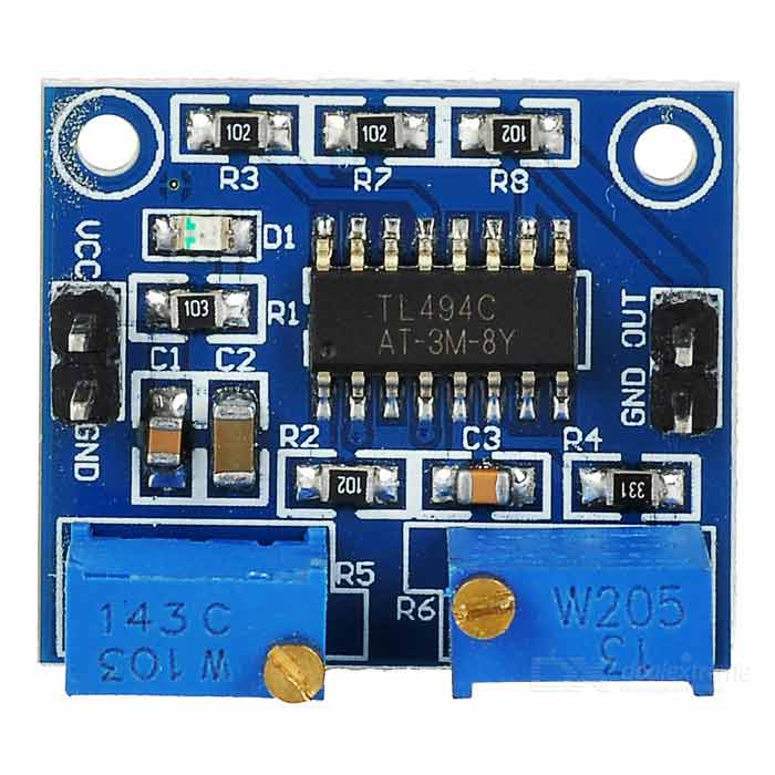 TL494 Frequency / Duty Ration Adjustable PWM Controller - BlueOther Accessories<br>Form ColorBlueModelTL494Quantity1 DX.PCM.Model.AttributeModel.UnitMaterialCCL + componentsEnglish Manual / SpecYesDownload Link   http://pan.baidu.com/s/1hqfE9RAPacking List1 x PWM controller<br>