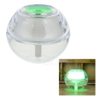 USB Powered 2W Mini Ultrasonic Air Humidifier w/ Green Light - Green + Transparent (120ml)