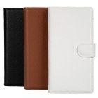 Lichee Pattern PU Case w/ Stand & Card Slots for Sony Xperia Z4 - Brown + White + Black (3 PCS)